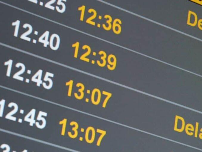 Verspätung bei Flugreisen