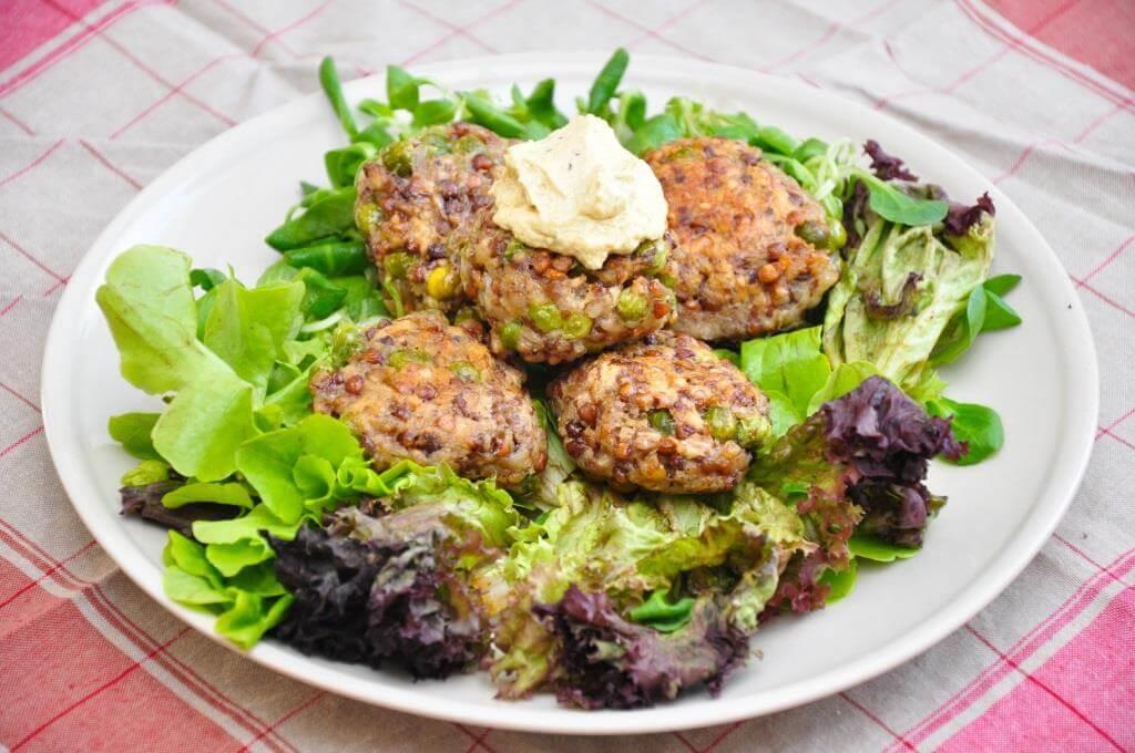 Grünkern Leibchen - ein leckeres Essen